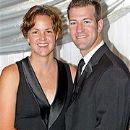 Lindsay Davenport and Jon Leach