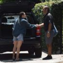 Scout Willis in Jeans Shorts Leaves Her House in Los Angeles - 454 x 480