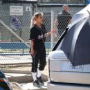 Kim Kardashian – Filming a KUWTK with a baseball game in LA