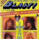 Vince Neil, Tommy Lee, Nikki Sixx, Mick Mars, Heather Locklear, Sharise Neil - Blast! Magazine Cover [United States] (30 July 1988)