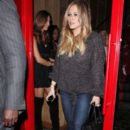 Hilary Duff at Mercato di Vetro Friday night November 11, 2011