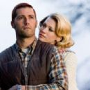 Matthew Fox as Red Dawson and January Jones as Carol Dawson in Warner Bros. Pictures', We Are Marshall - 2006