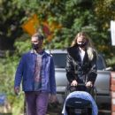 Joe Jonas and Sophie Turner – Stroll with their daughter in Los Angeles