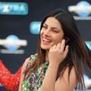 Priyanka Chopra at Extra Studios in Hollywood - 399 x 600