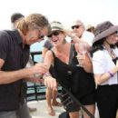 """Rick Springfield meets with fans during the Rick Springfield Rocks The Boat For """"Ricki and the Flash"""" event on July 30, 2015 in Marina del Rey, California"""