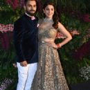 Virat and Anushka at their Wedding Reception in Mumbai - 454 x 681