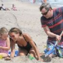 Sarah Jessica Parker Swimsuit Candids On The Beach In Montauk