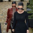 Kourtney Kardashian in Black Mini Dress – Out and about in Paris