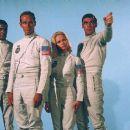 Titles: Planet of the Apes People: Charlton Heston, Jeff Burton, Robert Gunner, Dianne Stanley Character: George Taylor, Dodge, Landon, Astronaut Stewart - 454 x 378