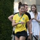 Adriana Lima in Brazil team jersey out in Paris - 454 x 303