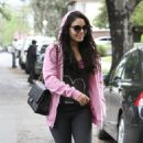 Vanessa Hudgens:  strolled the sidewalks of her Los Angeles neighborhood