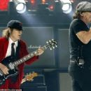 Brian Johnson & Angus Young rock out in Switzerland on June 4, 2015