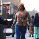 Tiffany Haddish – Filming 'The Kitchen' in NYC - 454 x 708