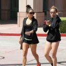 Vanessa Hudgens out with her little sister, Stella Hudgens (May 17)