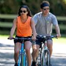 Lea Michele – Bike Riding in The Hamptons - 454 x 636