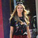 Heidi Klum – Shopping at Party City in Los Angeles
