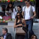 Irina Shayk and Cristiano Ronaldo at a tennis match in Madrid (May 10)