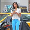 Olivia Munn: out promoting in New York City