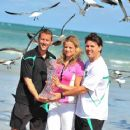 Kim Clijsters - At The Beach After The Win At The Sony Ericsson Open, Miami, 3 April 2010