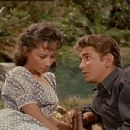 Adrienne Hayes and Michael Landon