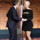 Amber Rose Promotes Her New TV Show on Late Night With Seth Meyers in New York City - June 16, 2016