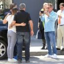Sylvester Stallone poses with a group of fans while out running errands in Beverly Hills, California on March 28, 2017 - 454 x 361