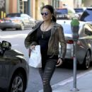 Michelle Rodriguez in Ripped Jeans Out Shopping in Beverly Hills - 454 x 630