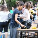 Halle Berry Halloween Party At Her Sons School In Beverly Hills