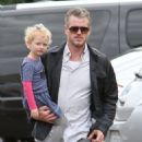Eric Dane takes his daughter Billie to a friend's birthday party on February 2, 2013 in Burbank, California - 454 x 586