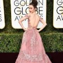 Lily Collins at the 74th Golden Globe Awards - arrivals
