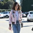 Lucy Hale in jeans shopping at Urban Outfitters in Los Angeles January 28, 2017 - 454 x 748