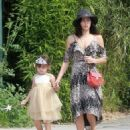 Jenna Dewan-Tatum is seen out with her daughter Everly Tatum at a farmer's market in Studio City, California on March 26, 2017 - 454 x 568