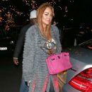 Lindsay Lohan and mother Dina seen leaving together from an evening at the C Restaurant in London