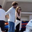 Emma Stone and Dave McCary at holiday in Capri - 454 x 664