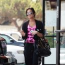 Demi Lovato Leaves A Two-hour Session At A Day Spa In Los Angeles, 2009-05-27