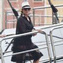Kris Jenner in Black Dress on holiday on Portofino - 454 x 644
