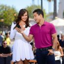Irina Shayk On The Set Of Extra In Universal City