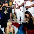 Blac Chyna, Tyga, Chris Brown, and Karrueche at the 2013 BET Awards Afterparty at Belasco in Los Angeles , California - June 30, 2013 - 454 x 421