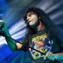 Singer Joey Belladonna of Anthrax performs during the Las Rageous music festival at the Downtown Las Vegas Events Center on April 21, 2017 in Las Vegas, Nevada - 454 x 313