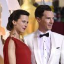 Benedict Cumberbatch and his wife Sophie Hunter - February 22, 2015 - Arrivals at the 87th Annual Academy Awards - 454 x 302