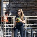 Elizabeth Olsen in Tights at Kreation in LA November 6, 2017