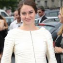 Shailene Woodley arrive at the Giorgio Armani Prive Haute-Couture show as part of Paris Fashion Week at Palais de Chaillot on Tuesday (July 3) in France