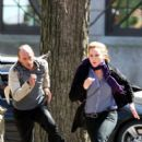 Abbie Cornish on Set in New York