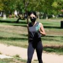 Lucy Hale – Out for a hiking session at Valley Village Park in Studio City