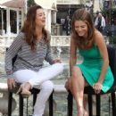 """NCIS"" actress Cote de Pablo Gives An ""Extra"" Interview gives an interview with Maria Menounos for ""Extra"" at The Grove on April 23, 2013 in Los Angeles, California"