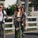 Bella Thorne – Riding Bike Around Los Angeles 8/13/2016 - 454 x 653