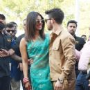 Priyanka Chopra and Nick Jonas – Arrives at Jodhpur Airport in India