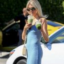 Charlotte McKinney in Blue Dress – Leaves Cha Cha Matcha in West Hollywood - 454 x 681