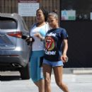 Christina Milian in Shorts – Out in Studio City - 454 x 582
