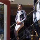 Selita Ebanks arrived at The Grove in Los Angeles, California on March 20, 2012 for an interview with the hit show Extra